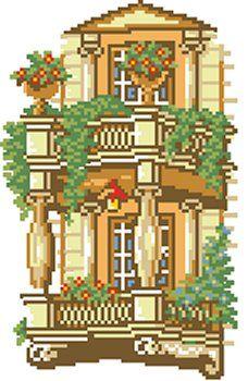 Cod produs 11.07 Balconul meu, toamna Culori: 11 Dimensiune: 16 x 24cm Pret: 30.50 lei