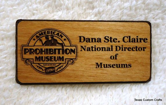 Custom Wood Name Badges Custom Wood Name Tags Personalized