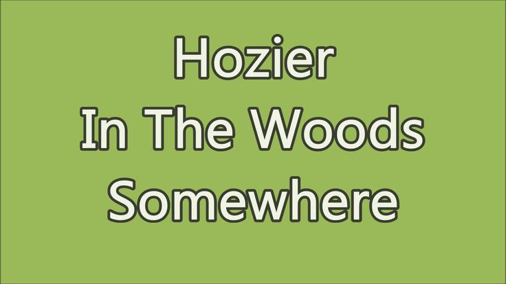 Hozier - In The Woods Somewhere (lyrics) // read or imagine a gloomy southern werewolf story while listening to this