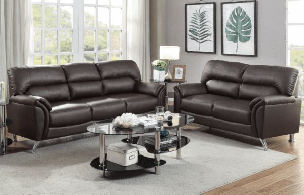 Regis Sofa Suite in Espresso - Chaise Sofas