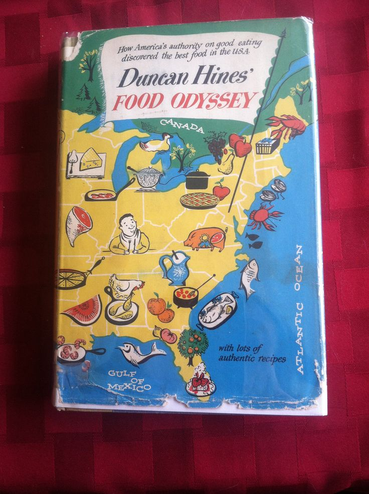 Before he was a cake mix, Duncan Hines was a traveling salesman & food critic. Memoir includes recipes, 1955.