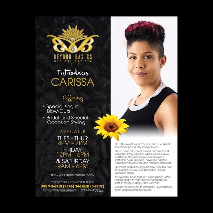 Bridal&Special Occasion Styling Hair Services are now offered at Beyond Basics Blo Bar! Let's welcome our own Caymaninan Professional Hair Stylist, Carissa with over 8 years experience! ��������‍♂️��������‍♂️ #beyondbasicsspa #BBBloBar #hair #hairstylist #caymanislands #healthyhair #bridalhair #updo #specialoccasionhair #blowout #cosmetology #beautifulhair #bride #bridesmaid #caymanevents #batabano2017 #caymas2017 #hairstyles #haircolor #fashion #haircut #hairproduct #hairdresser…