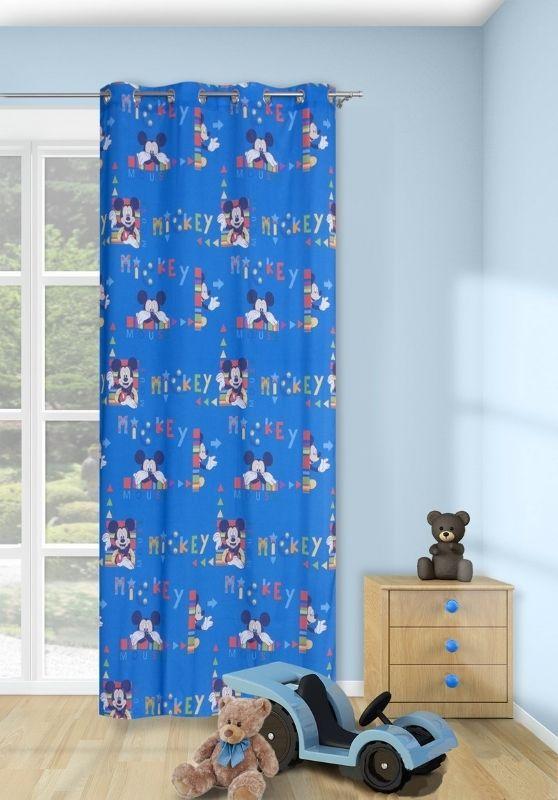 Gotowa dziecinna zasłona niebieska z Myszką Mikki