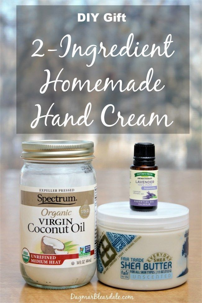 Homemade DIY hand cream recipe: I made my own hand cream, and it's so easy! Only 2 ingredients, and it also makes such a nice gift for any occasion! Dagmar's Home, DagmarBleasdale.com #Christmas #gifts #DIY #handcream #homemade #handmade #cream