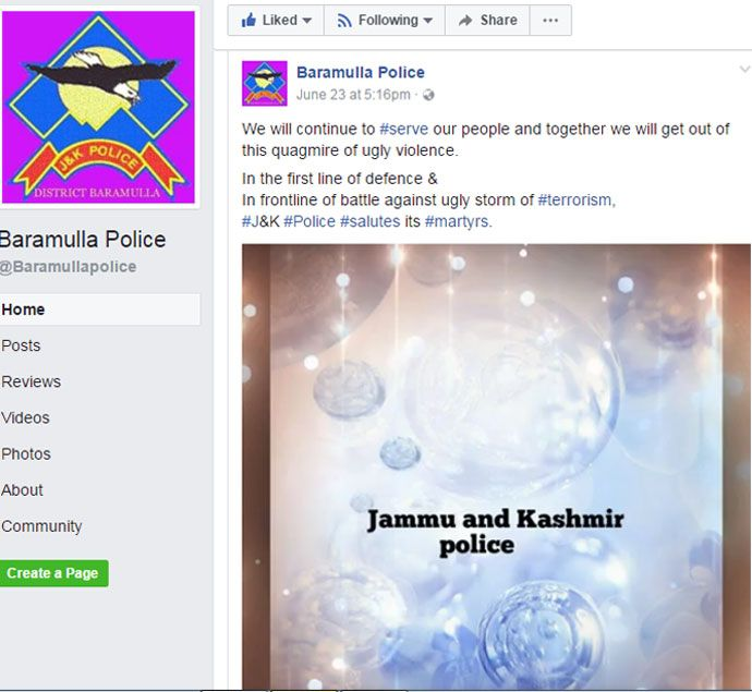 JK Police pay tributes to martyrs with a Pakistani song