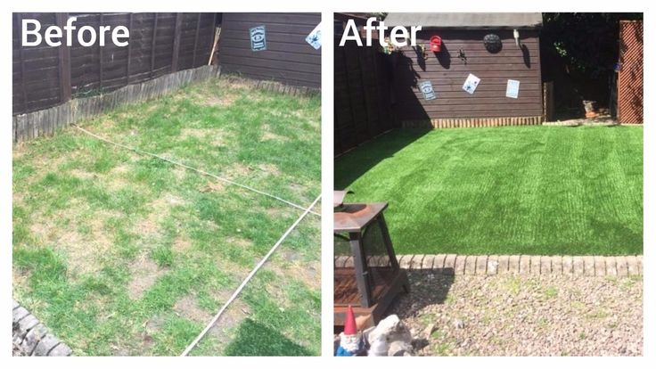 Trulawn Luxury transforms this dry, patchy area into a lovely lush lawn! #PerfectLawn #ArtificialGrass #LowMaintenanceGarden #GardenUpdate https://www.trulawn.co.uk/news/luxury-grass-realistic-look/?utm_campaign=coschedule&utm_source=pinterest&utm_medium=Trulawn%20Artificial%20Grass&utm_content=Luxury%20grass%20has%20the%20realistic%20look