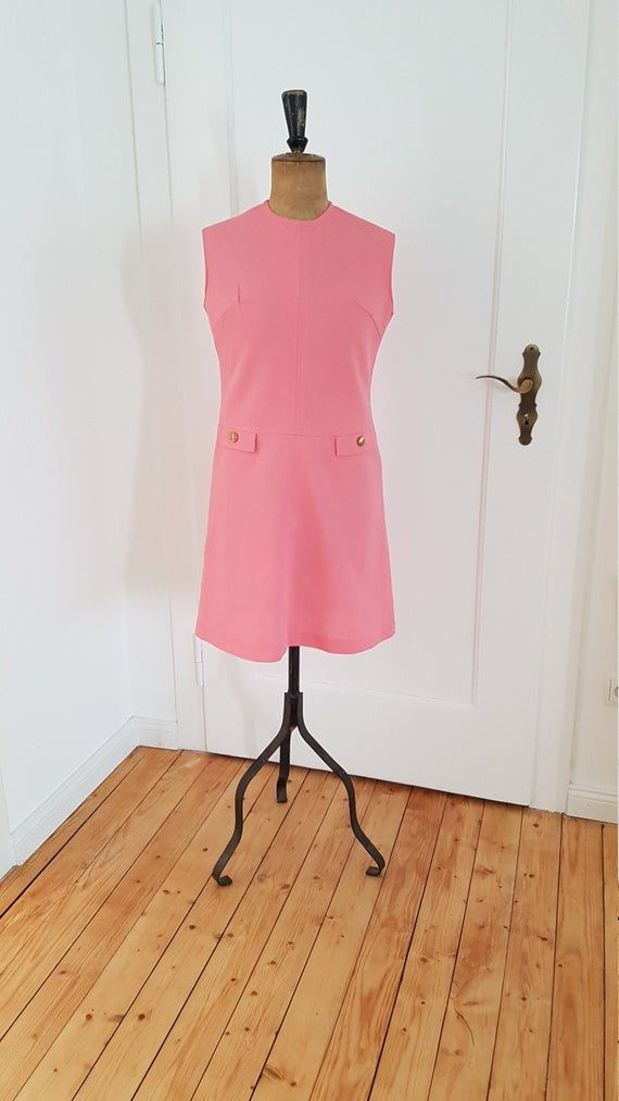 vintage dress retro dress case dress pink 60s 20119 in 2020