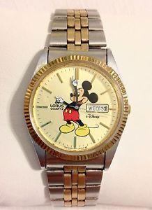 Vintage Lorus Mickey Mouse Watch V533 8A10 Day Date   eBay