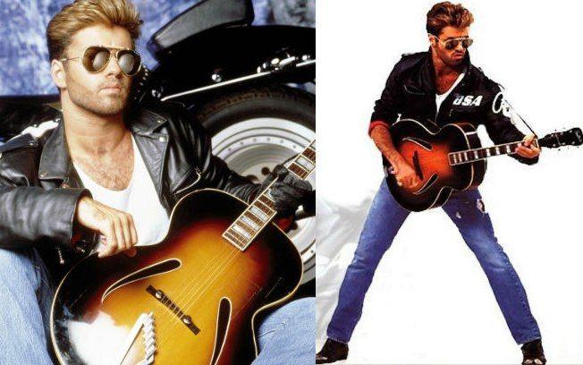No anos 90, muitos aderiram ao look George Michael, composto de jaqueta de couro, camisa branca e calça jeans . Foto: Divulgação