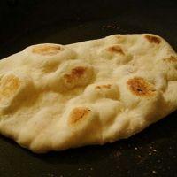 Naan bread no yeast. Flour, salt and yogurt