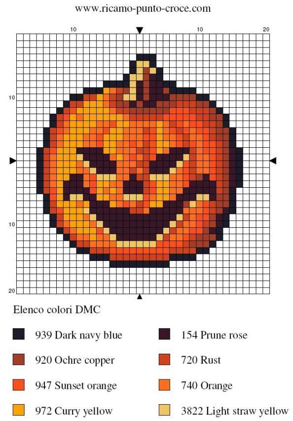 Free Cross Stitch Pattern - Jack O'Lantern