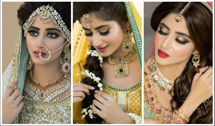 Sajal Ali Bridal Photoshoot For Nadia Hussain Salon. Check out all the pictures of Bridal and Mayun look with makeup and jewellery. Also See her Price List