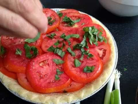 As summer draws to a close we still have a lot of tomatoes ripe on the vine so I decided to a tomato pie (or maybe, 4). This tomato pie recipe is easy and.. #healthytomatopierecipe #southerntomatopierecipe