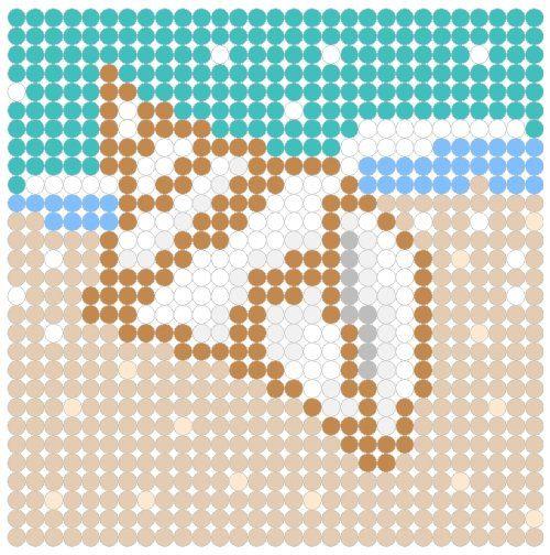 Sea Shell Perler Bead Pattern