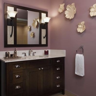 41 best images about powder room on pinterest vanities for Green and purple bathroom ideas