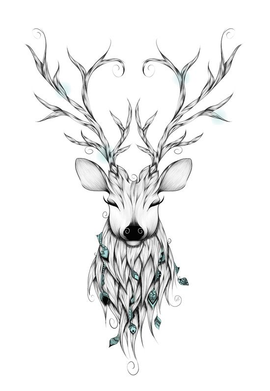 Poetic Deer Art Print by LouJah Mais