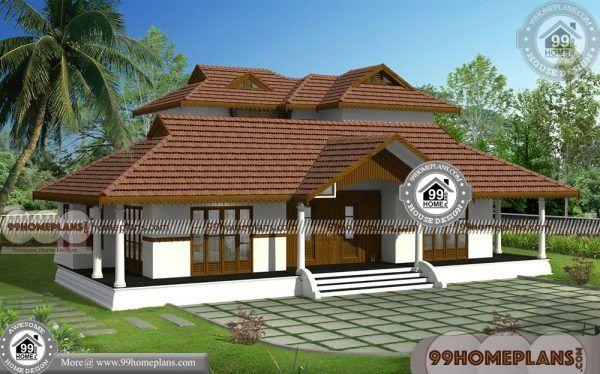 Nadumuttam Veedu 100 Two Storey House Plans Traditional Designs Kerala House Design Kerala Traditional House Village House Design