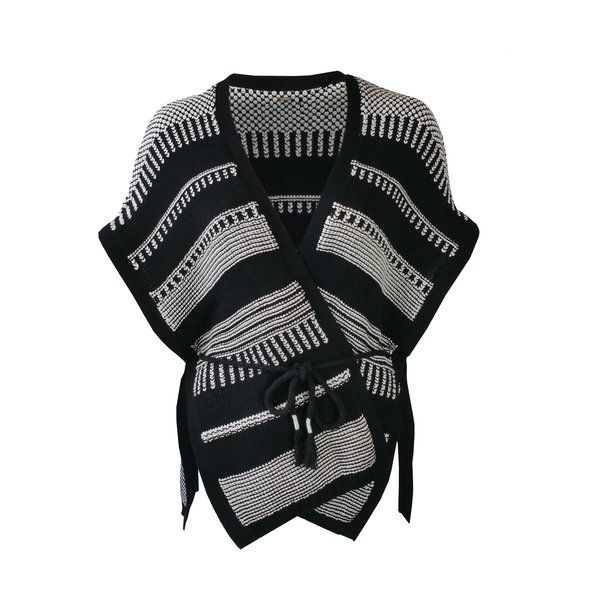 BLACK AND WHITE PONCHO £70