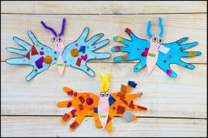 motyle-z-rączek/ handprint butterfly craft