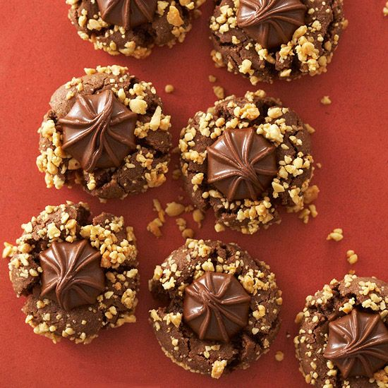 Chocolaty cookie dough and a crisp coating of nuts give these classic cookies a fresh (and delicious) twist./