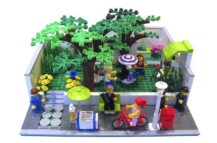 Modular Madness: Pocket Park - LEGO Town - Eurobricks Forums