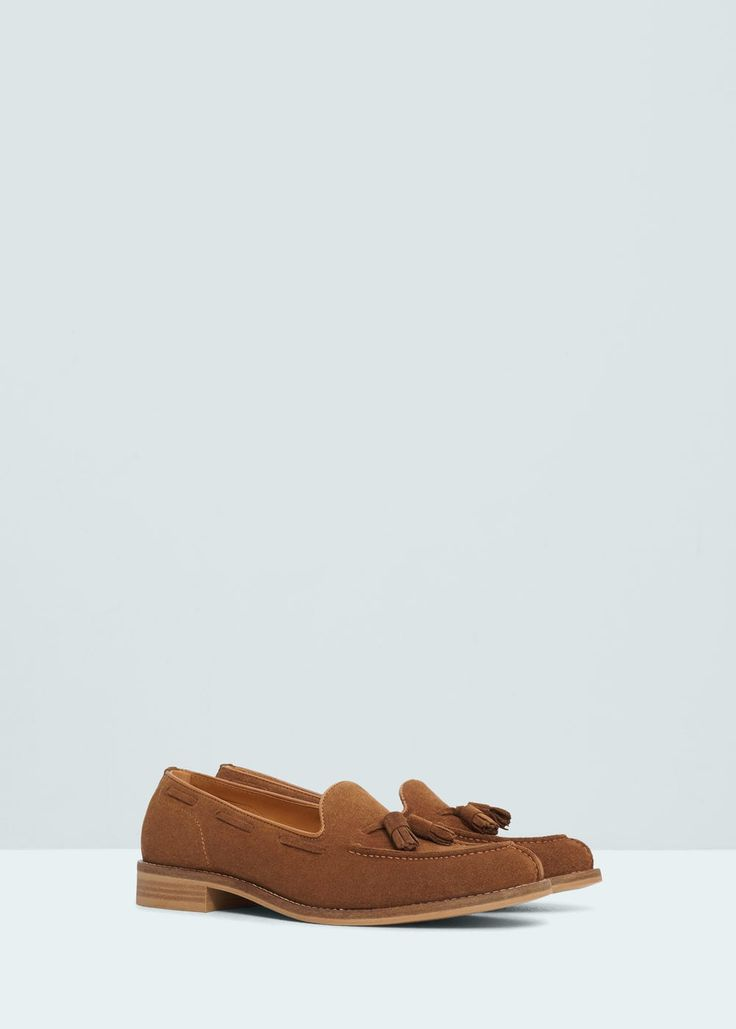 Кожаные мокасины с кистями - Обувь - Мужская | OUTLET Россия (Российская Федерация)
