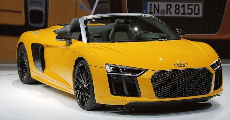 Audi R8 de nova geração, até então conhecido apenas como cupê, exibe em Nova York sua nova versão Spyder (conversível)