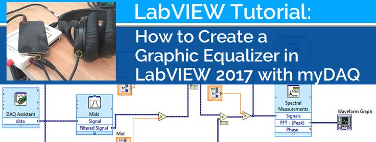 Create a Graphic Equalizer in LabVIEW 2017 with myDAQ