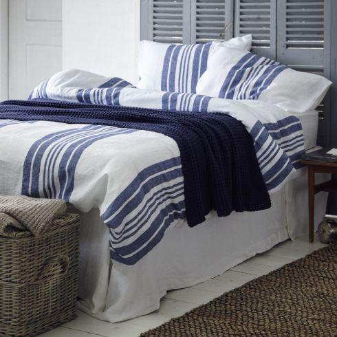 Linen Stripe Bed Linen Bed Set - Bed Linen Sale - Sale