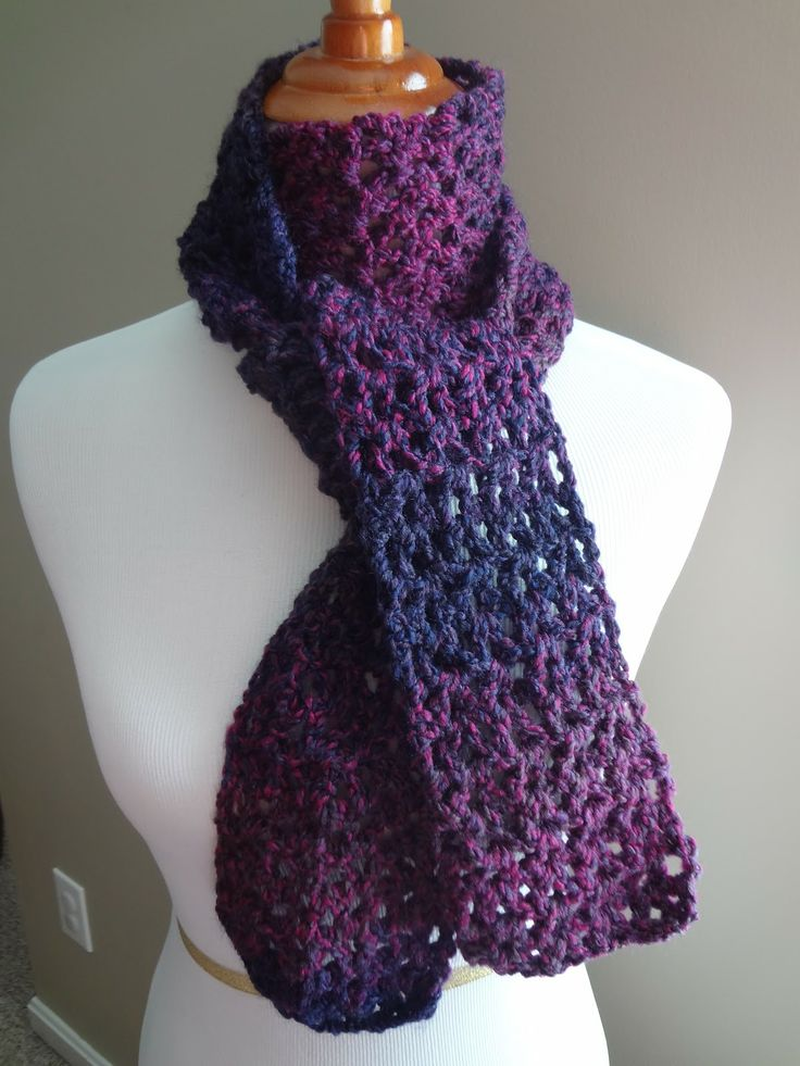 Free crochet pattern. Blueberry Pie Scarf! Materials: K ...