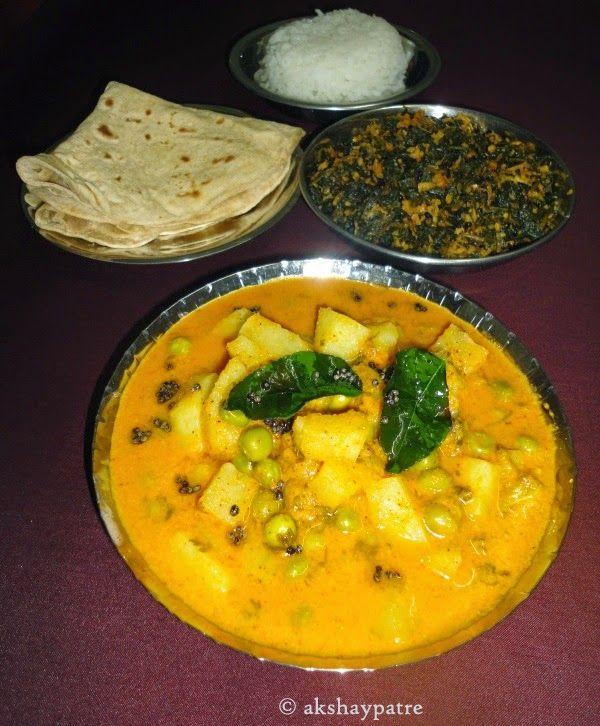 akshaypatre recipes: Aloo matar saaru recipe / Aloo matar curry / how t...