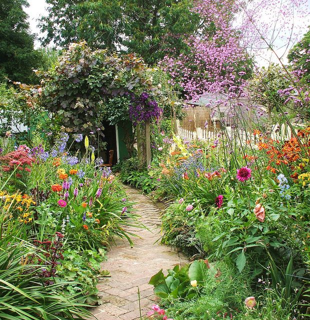 Wild Backyard Ideas : wonderful English garden Design Gardens, Cottages Gardens, Gardens
