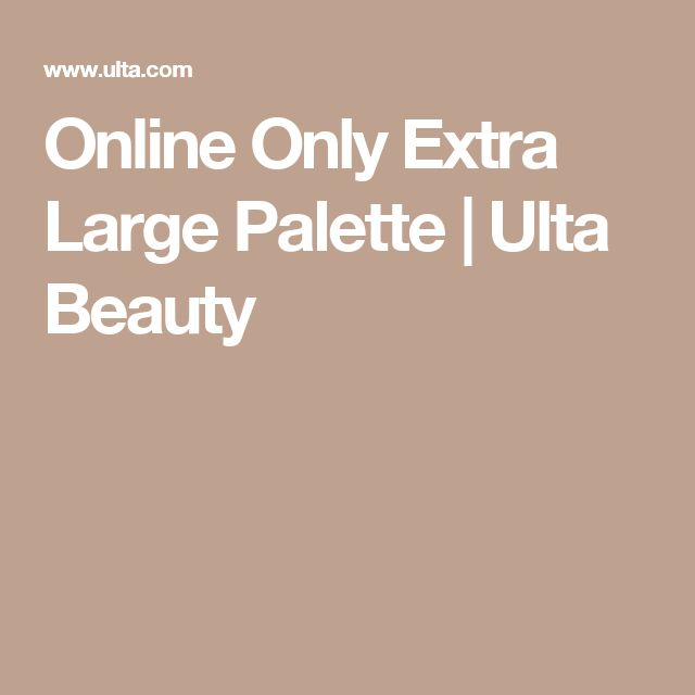 Online Only Extra Large Palette | Ulta Beauty