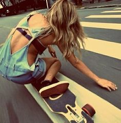 Love to Longboard, skateboard, skater girl, tomboy