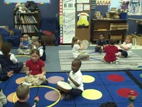 GREAT kindergarten activity for music class! Definitely trying this one! You could use any song and just tell them when to pass and when to play (on the beat). This is a fun way to let them play several instruments in one class.