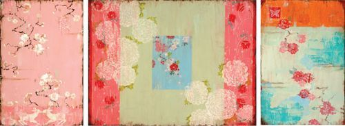Chinoiserie Style Paintings by Kathe Fraga: Colors Cottages