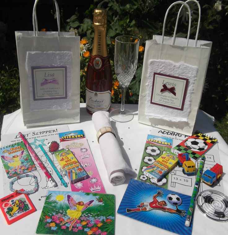 Personalised Children Wedding Activity Bag Pack - Prefilled - Ideal Favour