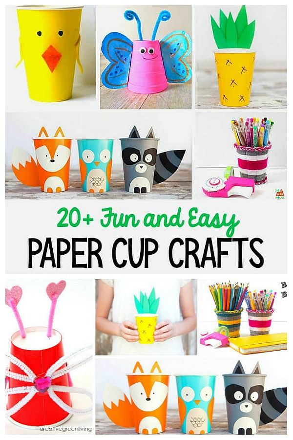20 Cup Crafts For Kids With Images Paper Cup Crafts Craft