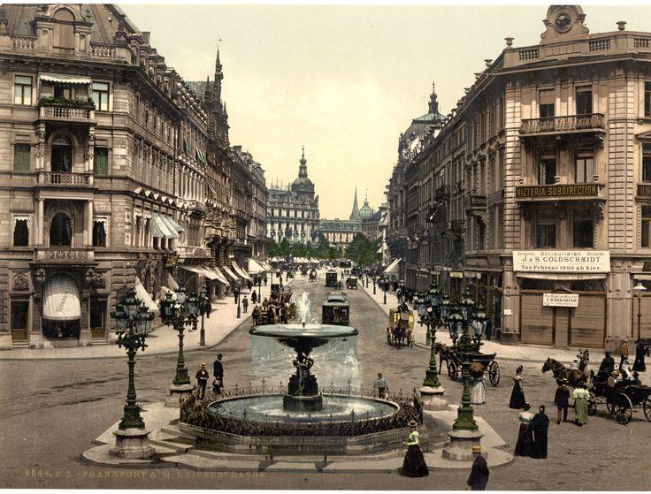 Der Alltag in der Kaiserstraße in Frankfurt am Main:   Diese Fotos zeigen Dir, wie Deutschland zu einer Zeit ohne Autos aussah