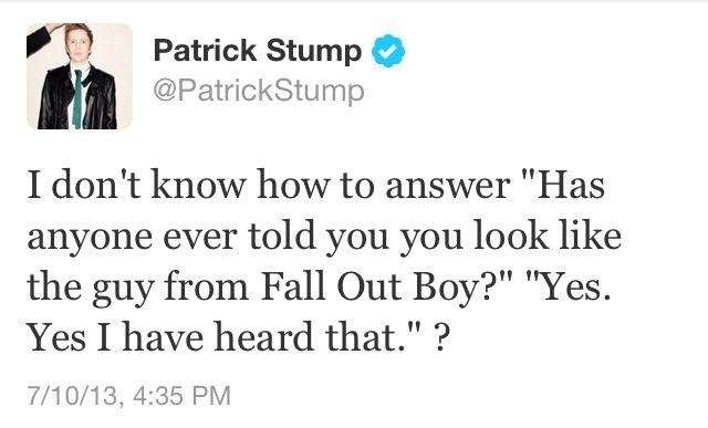 Patrick Stump | Twitter | FOB