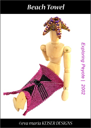 """Beach Towel""  Exploring Peyote Beadwork   2002: Beaches, Beaded Stuff, Beaded Goodies, Beach Towel, Towels, Keiser Designs"