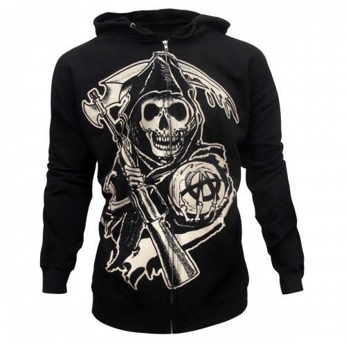 I have no idea when I'll get hoodie weather again, but I must have this for when that time comes!    Sons of Anarchy Grim Reaper Hoodie