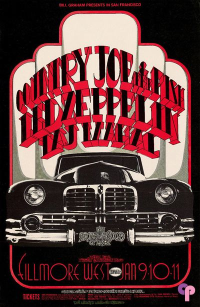 Classic Poster - Country Joe and the Fish at Fillmore West 1/9-11/69 by Randy Tuten & D. Bread & P. Pynchon