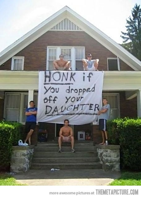 First day of college... too funny! - Click image to find more Humor Pinterest pins