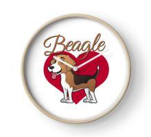 Beagle in my heart Clock