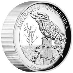 Australian Kookaburra 2016 5oz Silver Proof High Relief Coin