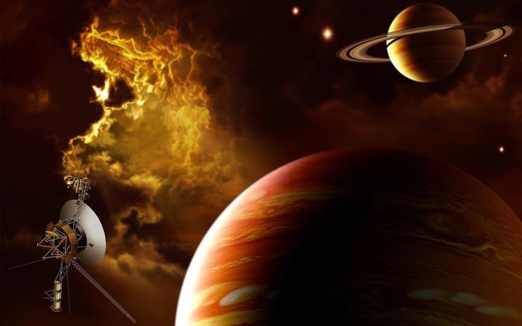 Юпитер, сатурн, туманность, корабль