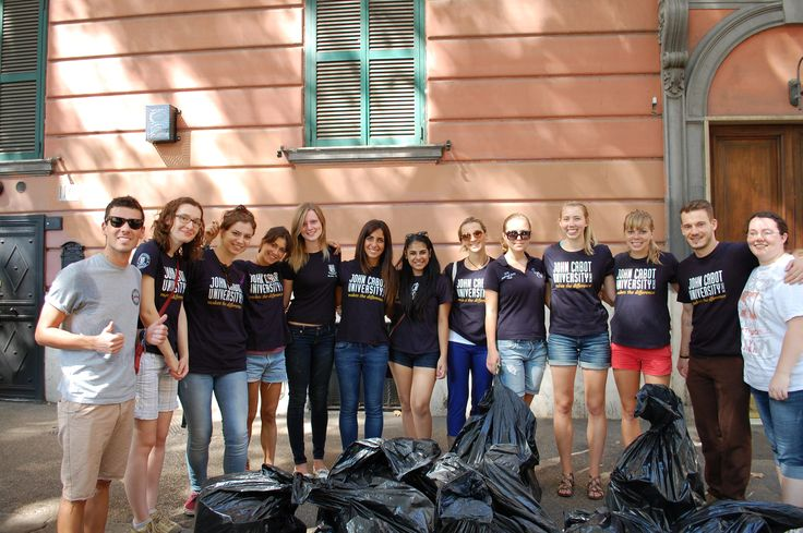 Grassroots (John Cabot's Environmental Club) hold Trastevere clean-up days once a month!