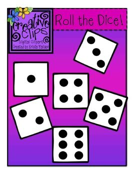 Free Dice Clipart: Creative Clips Digital Clipart by Krista Wallden. Enjoy for personal or commercial use! :)