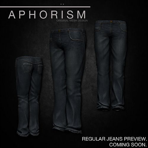 !APHORISM! REGULAR JEANS PREVIEW | Flickr - Photo Sharing!